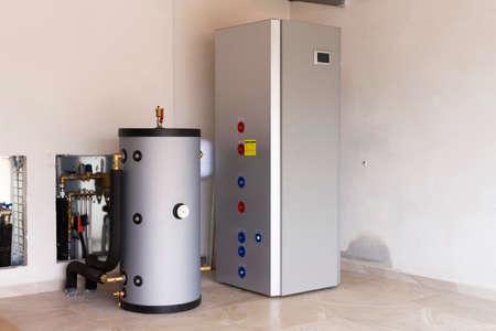 heat pump air - water in the boiler room