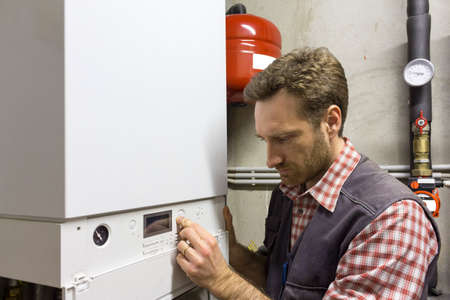 condensing: plumber who carries out the maintenance of a condensing boiler