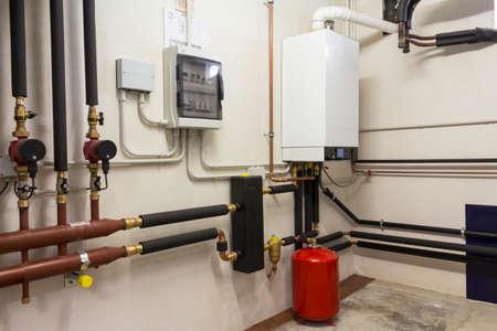 condensing: condensing boiler gas in the boiler room