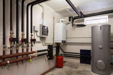 kondensacyjny kocioł gazowy w kotłowni