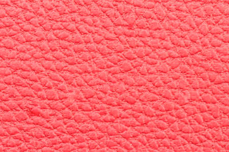 red leather: background: close-up of red leather fabric Stock Photo