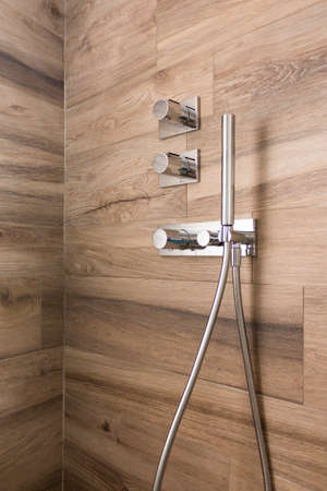 vitreous: close up of Shower box in the bathroom