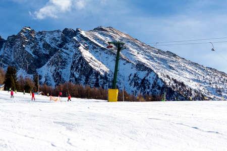 ski resort: Ski resort with track and ski lift