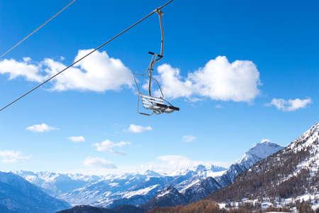 pila: Ski resort with track and ski lift