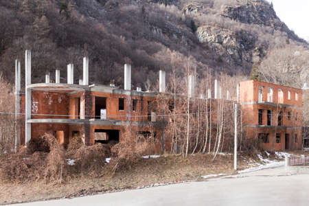 Building abuse. Example of illegal Italian construction