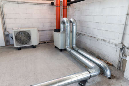 heat recovery unit for mechanical ventilation system and heat pump for air conditioning