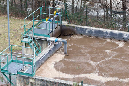Top view of Water treatment plant