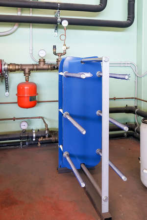 Plate heat exchanger for heating Stockfoto