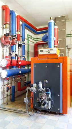 boiler gas in the boiler room Standard-Bild