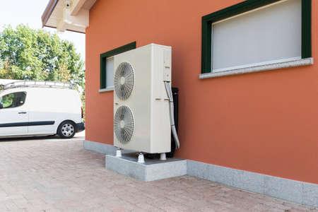 warmtepomp lucht - water voor het verwarmen van een woonhuis