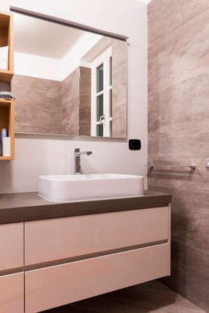Mobile sink in the bathroom Stockfoto