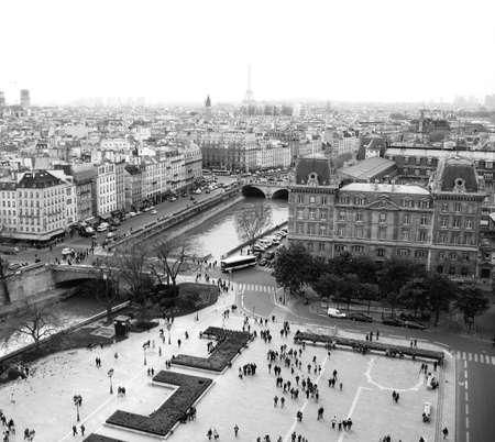 Paris from Above Square View of Point High Angle View