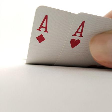 Double Ace Cards, Poker Gamble Winner