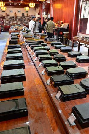 inkstone: Inkstones selling in the shop