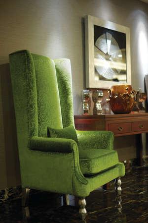 green sofa: Green sofa