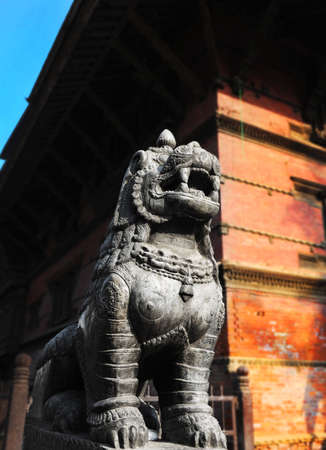 humanities: lion stone Stock Photo