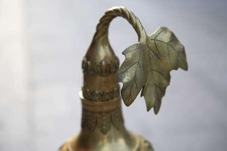 hijsen: Close-up van koper hoist