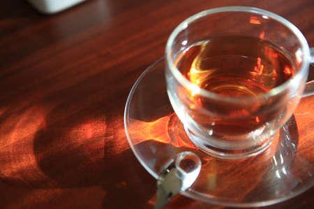 break: A cup of tea on the desk
