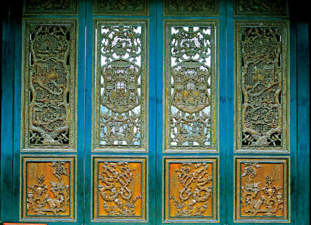 wood carving door: Wood carving Editorial