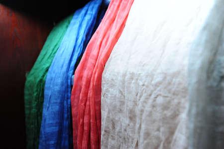foulards: Primo piano di sciarpe