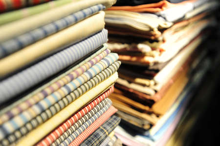 folded clothes: Closeup of folded clothes