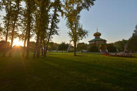 volga: Volga Manor during sunset