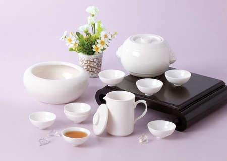 necessities: Tea set Stock Photo