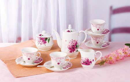 tea set: Tea set Stock Photo