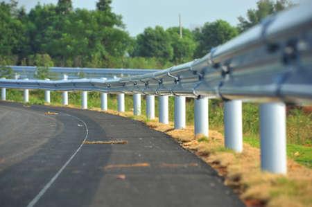 guardrail: Guardrail beside the road