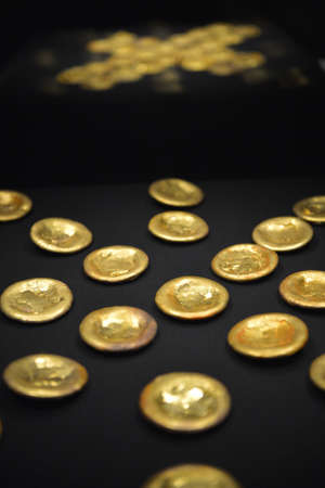 humankind: ancient gold accessories Stock Photo