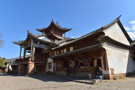 humanities: Shaxi culture building street view Editorial