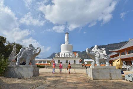 humanities: The White Pagoda at Yunnan
