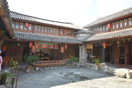 architectural building: Yunnan historical ancient architectural building Editorial
