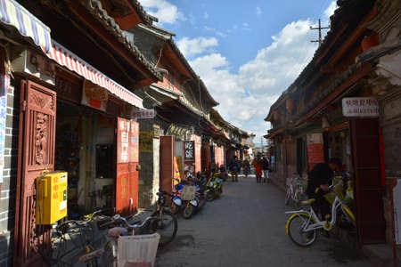 humanities: Yunnan ancient town street view