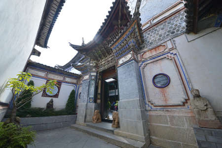 humankind: Yunnan historical ancient architectural building Editorial
