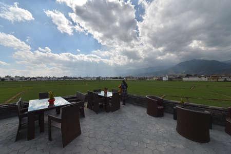 teahouse: Dali landscape scenery view