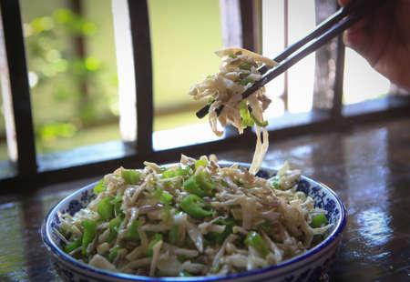 shoots: Fried dried bamboo shoots Stock Photo