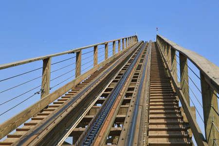 theme park: track at Wanda cultural theme park Editorial