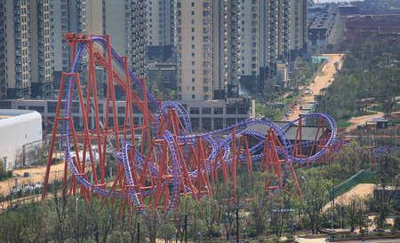 theme park: Roller coaster at Wanda cultural theme park