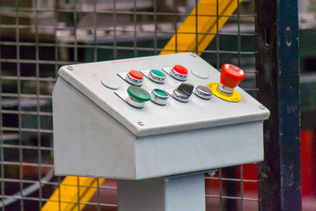 bottons: Machine console with color bottons
