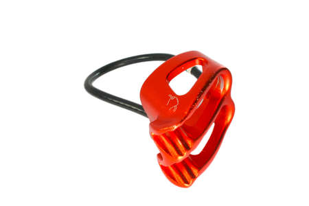 abseiling: Belay  Rappel Device Stock Photo