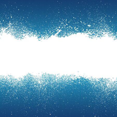 어두운 파란색 배경에 흰색 스프레이 페인트 배너입니다. 일러스트