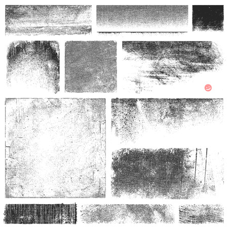 battered: Collection of vector textures and stains.