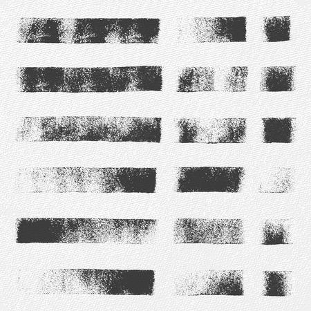 Verzameling van vector texturen gemaakt met een kleine verfroller.