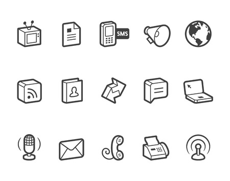 Communication vector icons. File format is EPS8.