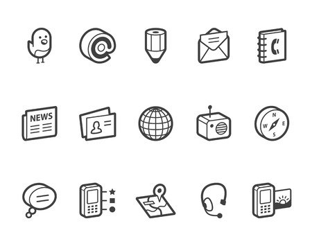 mms: Media and communication vector icons.  File format is EPS8. Illustration