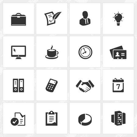 file format: Business vector icons. File format is EPS8. Illustration