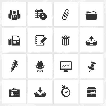 writing chair: Business and office vector icons. File format is EPS8. Illustration