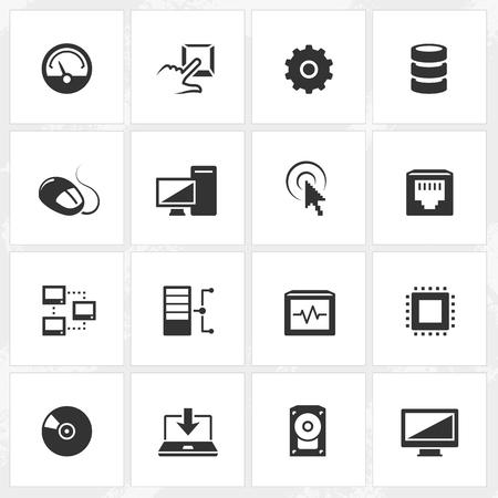 pc icon: Computer vector icons.  Illustration