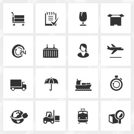 Logistics vector icons. File format is EPS8.
